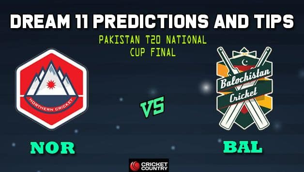 Dream11 Team Northern vs Balochistan Pakistan T20 Cup National T20 Cup, 2019 – Cricket Prediction Tips For Today's T20 Final NOR vs BAL at Faisalabad