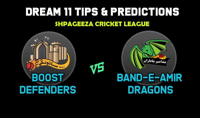 Dream11 Team Boost Defenders vs Band-e-Amir Dragons Match 15 Shpageeza Cricket League 2019 – Cricket Prediction Tips For Today's T20 Match BOD vs BD at Alokozay Kabul International Cricket Ground