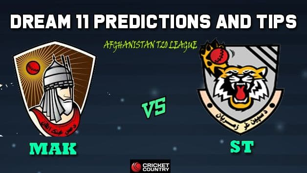 Dream11 Team Mis Ainak Knights vs Speen Ghar Tigers Match 8 Afghanistan T20 League 2019 – Cricket Prediction Tips For Today's T20 Match MAK vs ST at Kabul