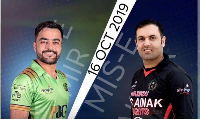Live cricket score BD vs MAK Band-e-Amir Dragons vs Mis Ainak Knights, Afghanistan T20 League , Qualifier 1