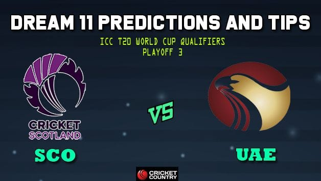 Dream11 Team Scotland vs United Arab Emirates ICC Men's T20 World Cup Qualifiers – Cricket Prediction Tips For Today's T20 Playoff 3 SCO vs UAE at Dubai