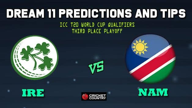 Dream11 Team Ireland vs Namibia ICC Men's T20 World Cup Qualifiers – Cricket Prediction Tips For Today's T20 3rd place Playoff IRE vs NAM at Dubai