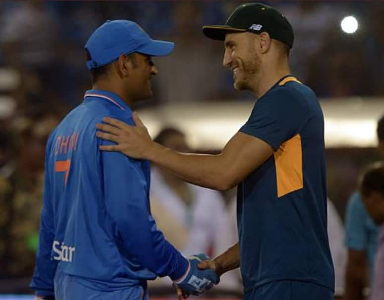 MS Dhoni's greatest strength is understanding the situation : Faf du Plessis