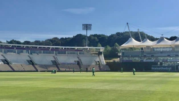 Players found it difficult to spot white ball due to the light colour of empty seats in stadium: Ireland coach Graham Ford