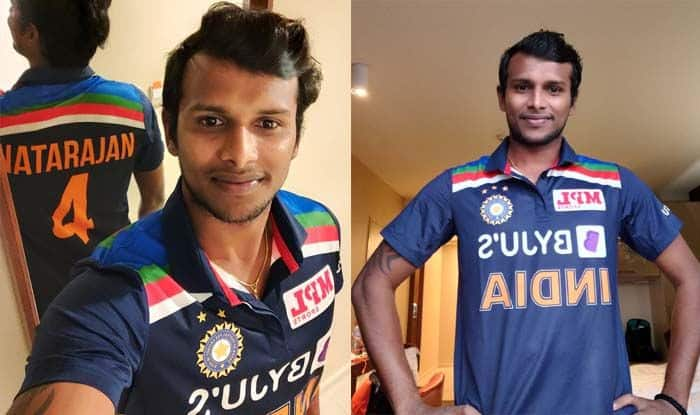 Trending Cricket News: T Natarajan shares his picture in Team india New jersey
