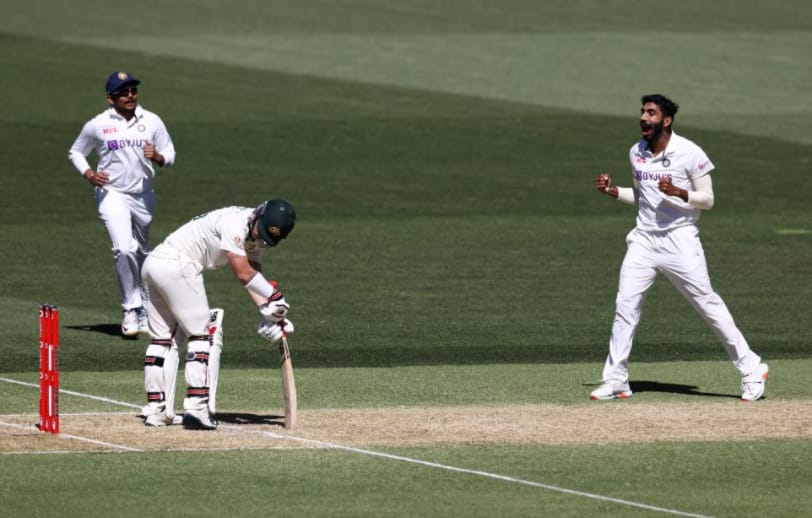IND vs AUS, Day-2, Dinner Report, Day Night Test: Jasprit Bumrah early breakthrough put Australia at 35/2
