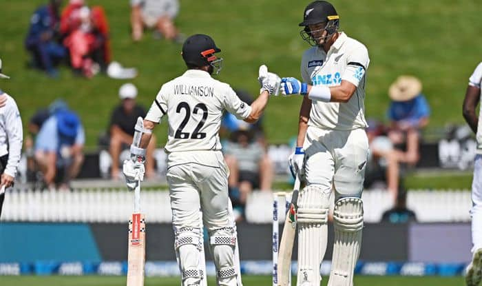 hamilton test nz vs wi new zealand declares at 519 runs captain kane williamson smashed double hundred