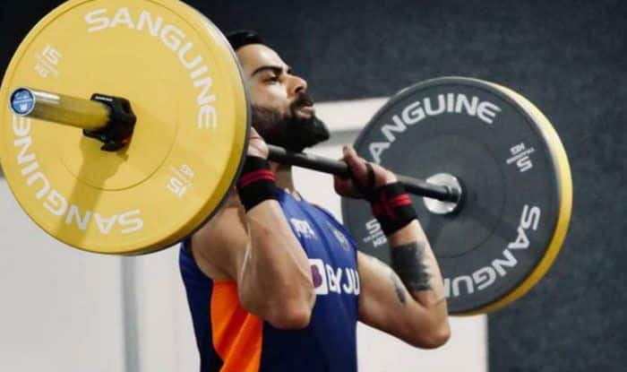 ind vs eng virat kohli shares his gym photos before pink ball test against england wrote special message for fans