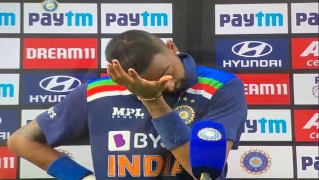 This one is for my dad krunal pandya gets emotional dedicates maiden odi fifty to late father