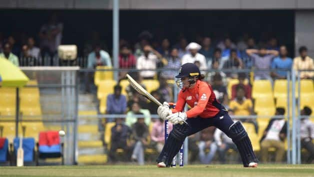 Tammy Beaumont became the first English batter to carry her bat in ODIs