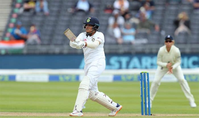 indw vs engw shafali verma became first indian women to score fifty plus runs in both innings of debut test