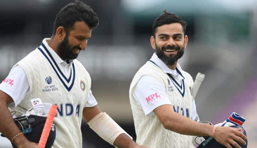 India vs New Zealand, WTC 2021, Day-5, Stump: India 64/2 with 32 run lead, Virat kohli, Cheteshwar Pujara on crease