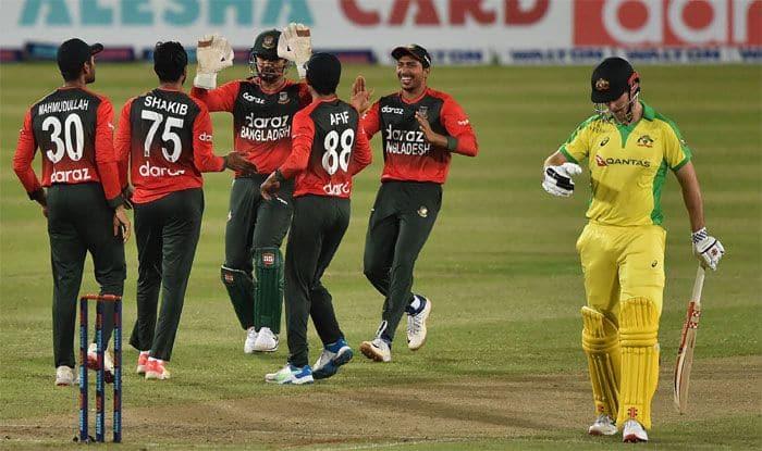 ban vs aus 1st t20i match report bangladesh beat australia by 23 runs and takes 1-0 lead