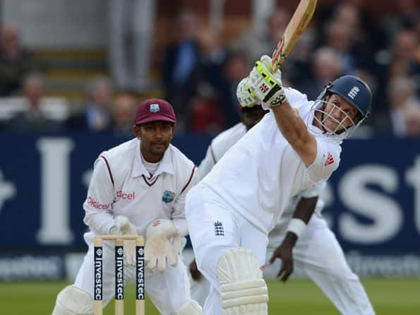 Andrew Strauss nears ton as England reach 167 for one at tea against West Indies