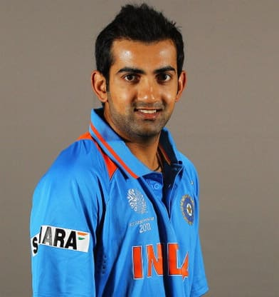Gautam Gambhir earned a  million dollar salary, leaving the net worth at 20 million in 2017