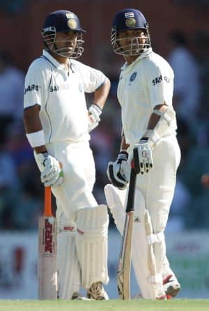 Gautam Gambhir, Sachin Tendulkar steady India after early jolts
