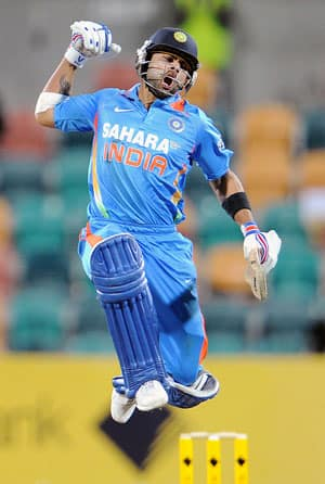 Virat Kohli becomes fastest to reach 10 tons in ODIs