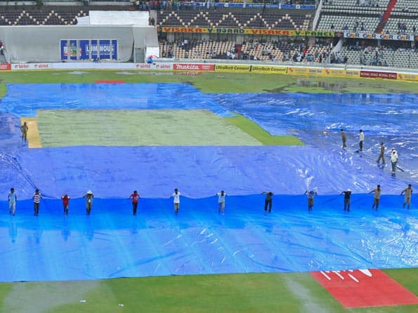Wet outfield delays start of India-New Zealand fourth day's play at Hyderabad