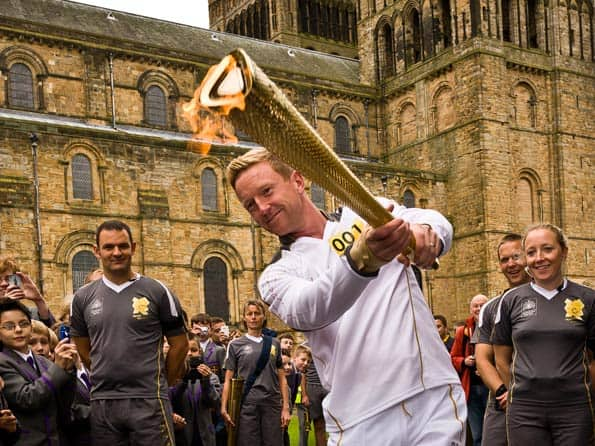Paul Collingwood privileged to carry the Olympic Torch