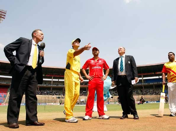 Canada opt to bat against Australia in their last World Cup match