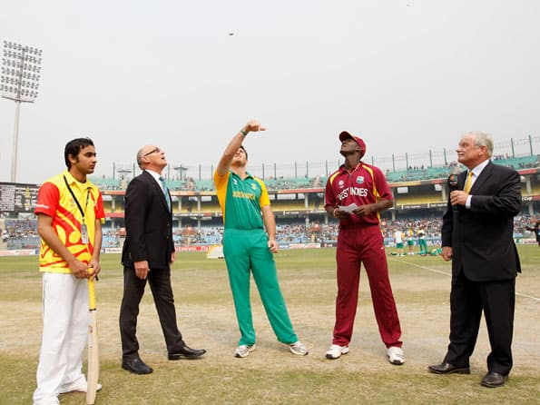 South Africa wins toss, opts to field first against West Indies