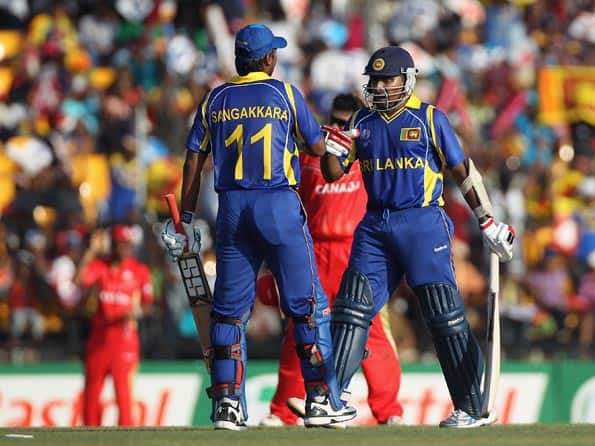 Jayawardene, Sangakkara make merry