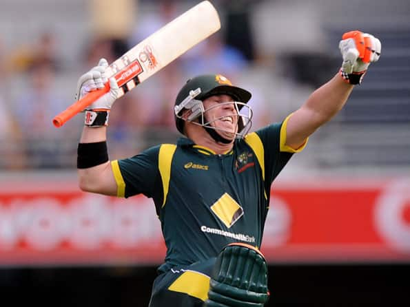 Warner ton propels Australia to huge total in first CB Series final against Sri Lanka