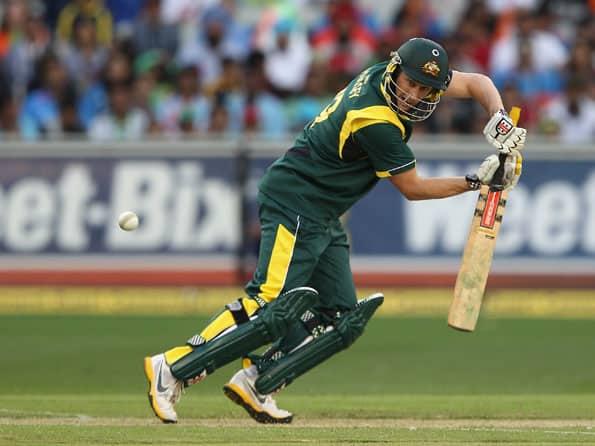 David Hussey, Matthew Wade half-centuries propel Australia to 216 for five