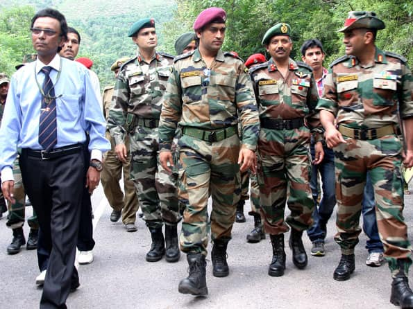 Fortunate to be part of Indian Army: MS Dhoni