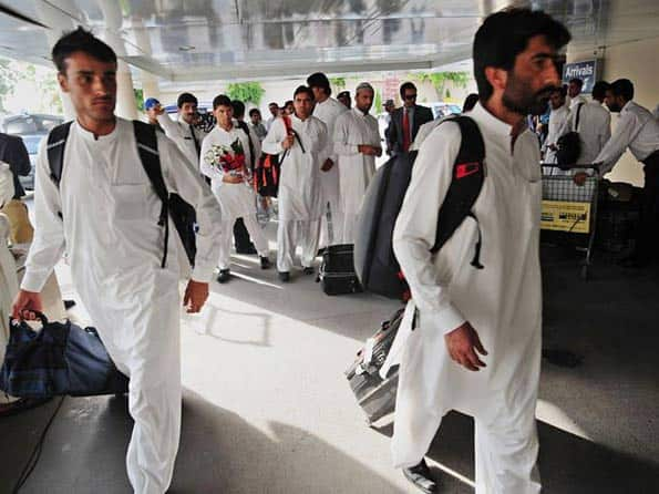 Afghanistan team arrives in Pakistan for three-match ODI series