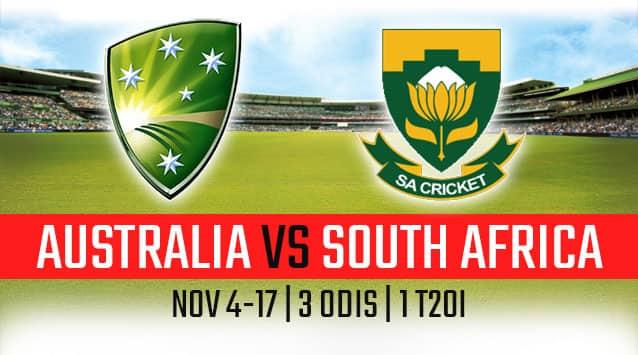 South Africa in Australia,  2018