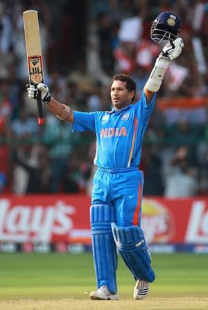 Tendulkars 47th ODI century powers India to 338