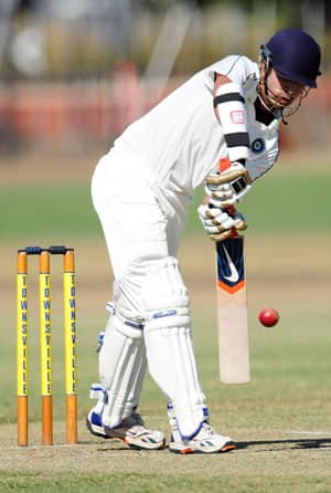 Menaria ton propels Rajasthan to 257 against Railways