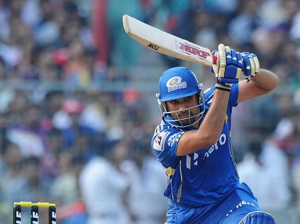 Rohit Sharma ton helps Mumbai put up a daunting total against Kolkata