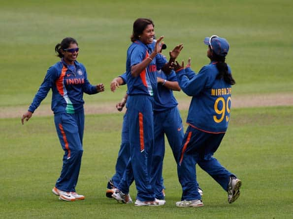 Jhulan Goswami's four-wicket haul helps India beat England