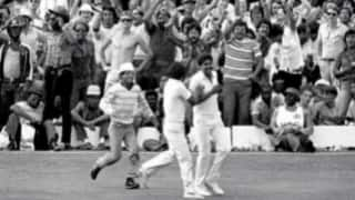 Kapil Dev changes the course of the 1983 World Cup final with a brilliant running catch to dismiss Viv Richards