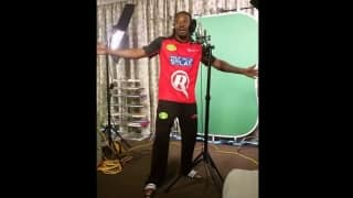 Video: Chris Gayle sings his heart out during a promo shoot for Melbourne Renegades