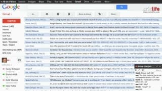 Screenshot of AB de Villiers's Gmail account after his record-breaking ODI hundred against the West Indies
