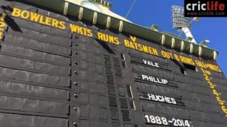 Adelaide Oval pays tribute to Phil Hughes