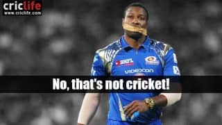 Kieron Pollard, it's not cricket!