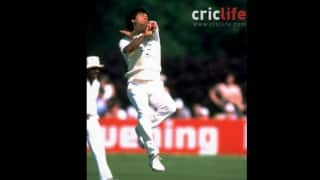 Imran Khan runs through the Indian batting line-up with 6 for 14