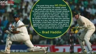 'MS Dhoni is a true gentleman of the game,' says Brad Haddin