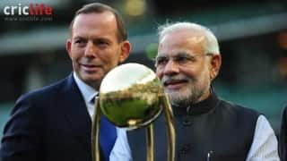 Prime Minister Narendra Modi pays his tribute to Phil Hughes