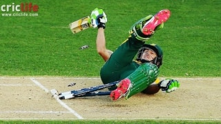 ICC Cricket World Cup 2015: Faf du Plessis takes a fall!