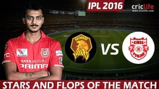 IPL 2016: Kings XI Punjab beat Gujarat Lions by 23 runs at Rajkot, Stars and Flops