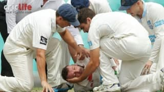 Phil Hughes in critical condition after being hit by a bouncer
