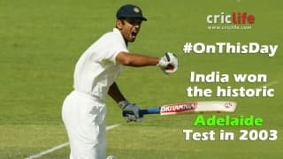 India win the Adelaide Test