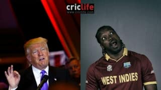 BREAKING NEWS: Donald Trump impressed with Chris Gayle, invites him to be running mate