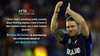 Finishing career in front of home crowds would be romantic, feels Brendon McCullum