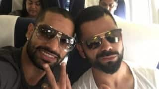 Shikhar Dhawan, Virat Kohli off to Bengaluru ahead of Test series in West Indies